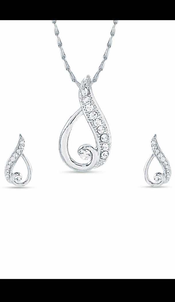 Wonderful Silver Color Pendant Set