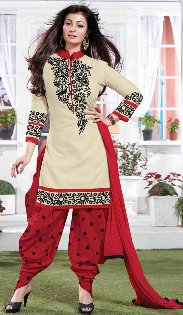 Ayesha Takia ! Patiala Style Cotton Salwar Kameez in Red | FH381262748