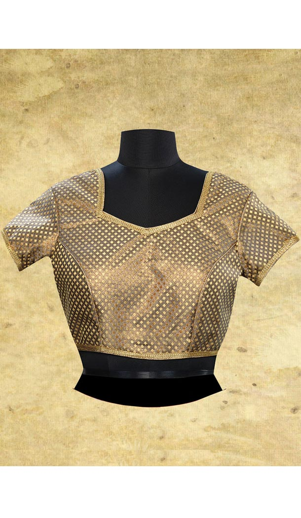 Beige Color Brocade Sweet Heart Neck Designer Readymade Blouse | FH511877933
