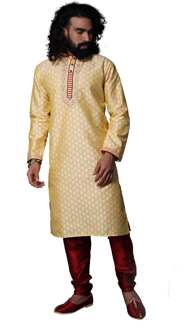 Alluring Fon Color Cotton Casual kurta Pajama | 336639839
