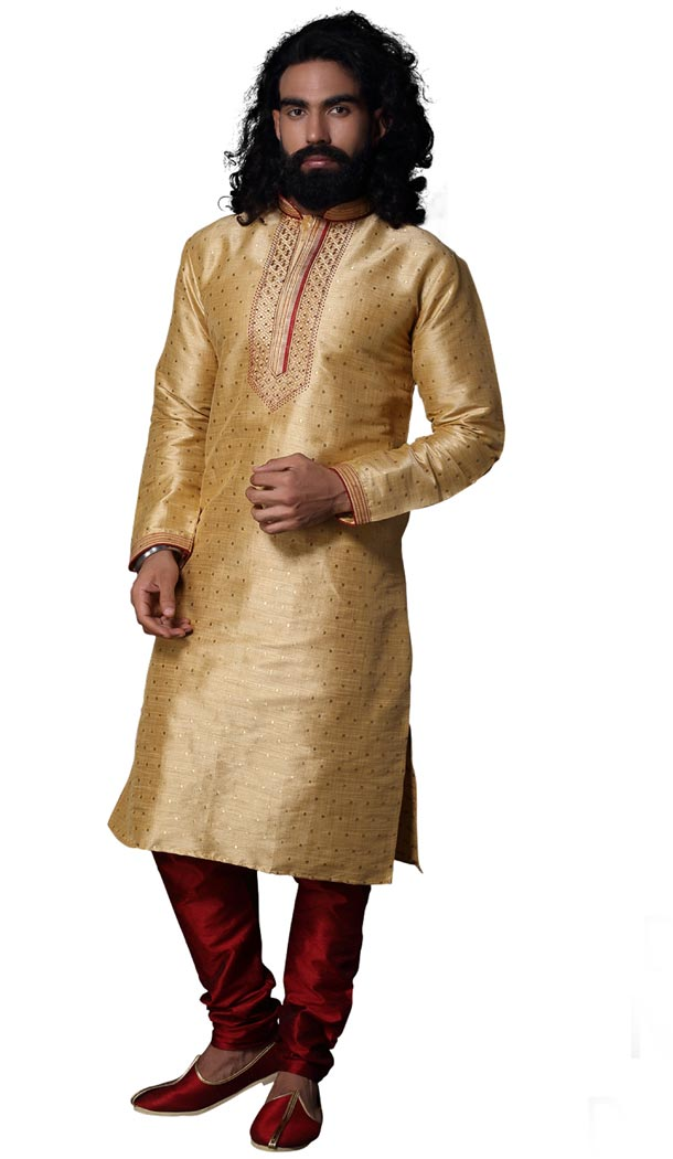 Attractive Fon Color Silk Casual kurta Pajama | 336639841