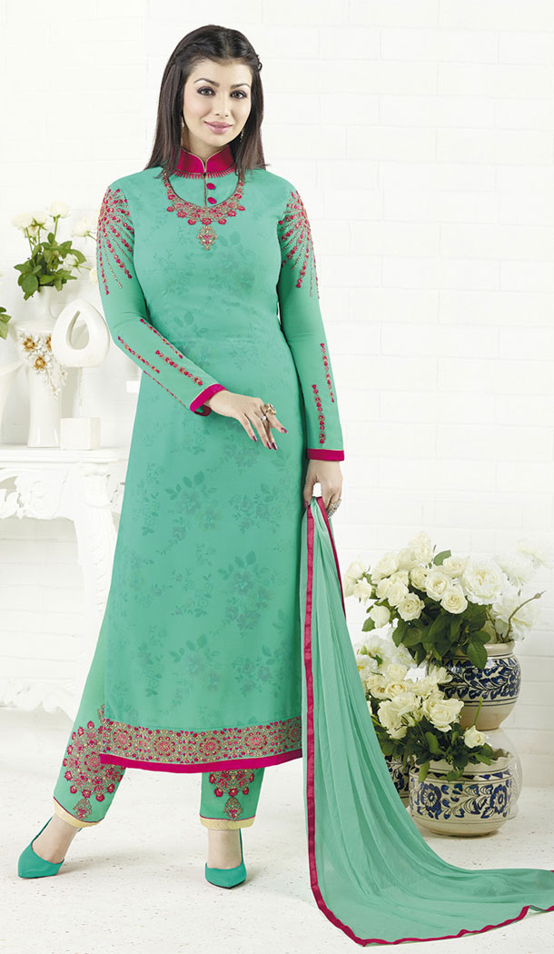 Ayesha Takia Light GreenSalwar Kameez | 355742055
