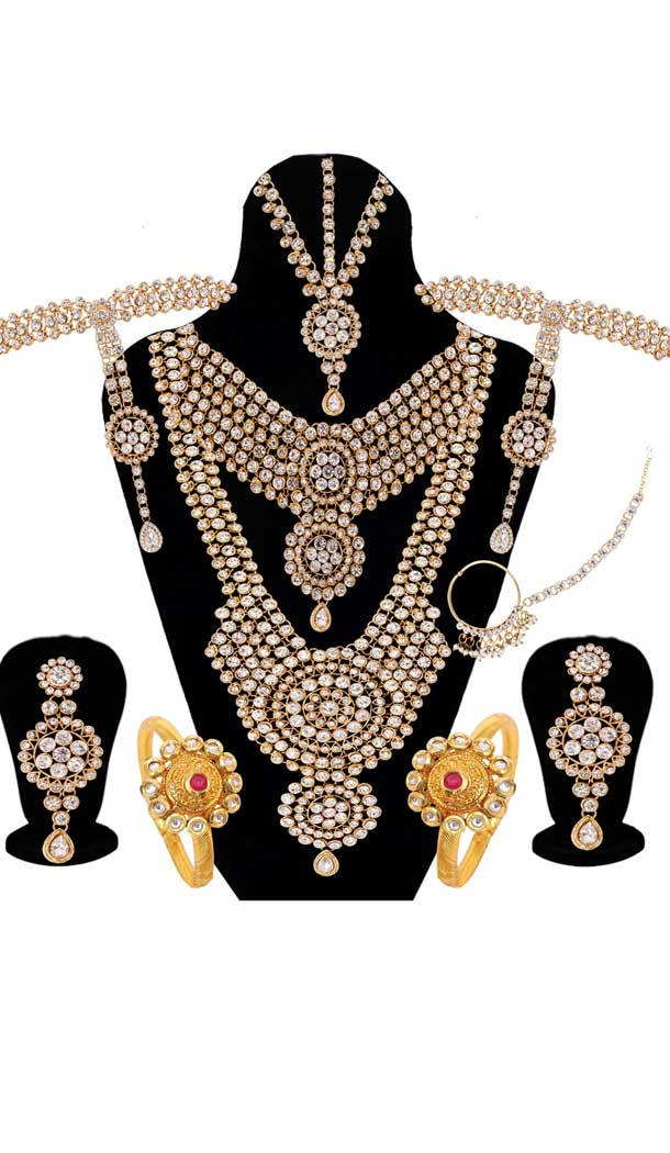Perfect look Wedding Golden & Silver Color Dulhan Necklace | 368043920