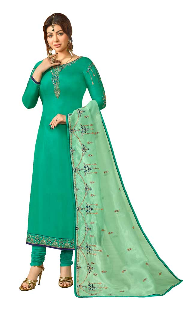 Bollywood Celebrity Ayesha Takia Sea Green Salwar Kameez | 58077336
