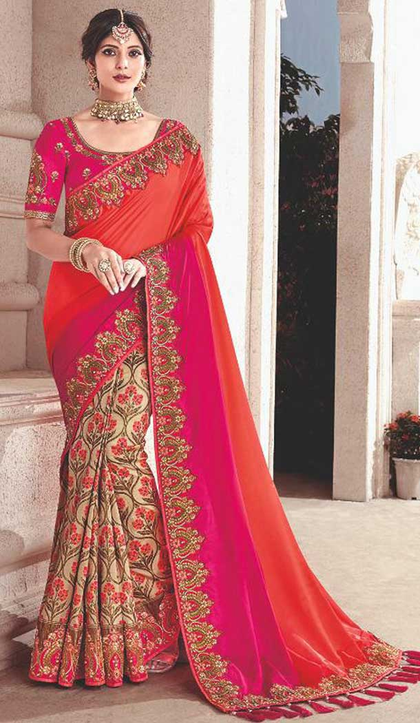 Pink Color Silk Heavy Traditional Designer Saree Blouse | 379245407