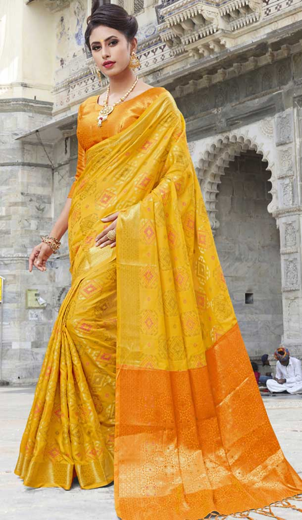 Orange Color Chanderi Silk Kanchipuram Regional Saree | 382745777