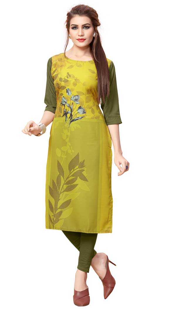 Aesthetic Multi Color American Crepe Casual Wear Readymade Kurtis - 3302869