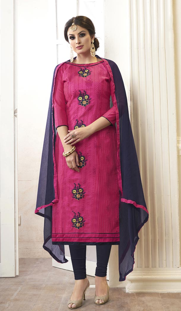 Pink Color Modal Cotton Embroidery Office Wear Formal Salwar Kameez - 403548747