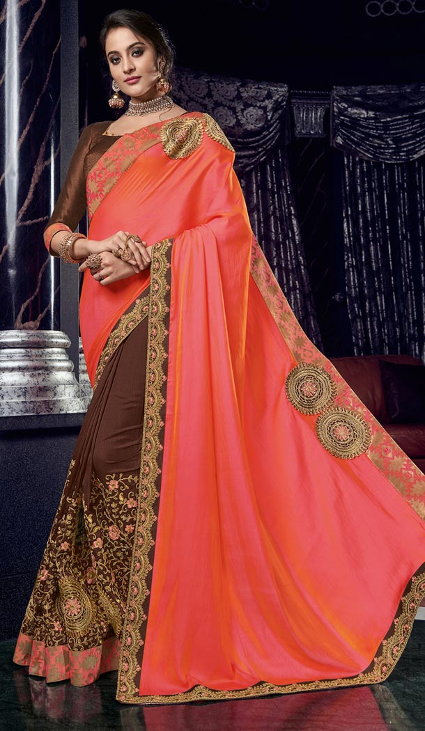 Exquisite Multi Color Two Tone Silk Party Wear Designer Saree - 405649051