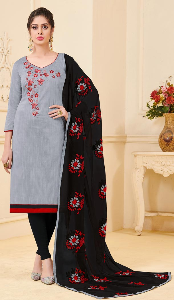 Achkan Grey Color Bangalori Slub Casual Wear Salwar Kameez - 419851124