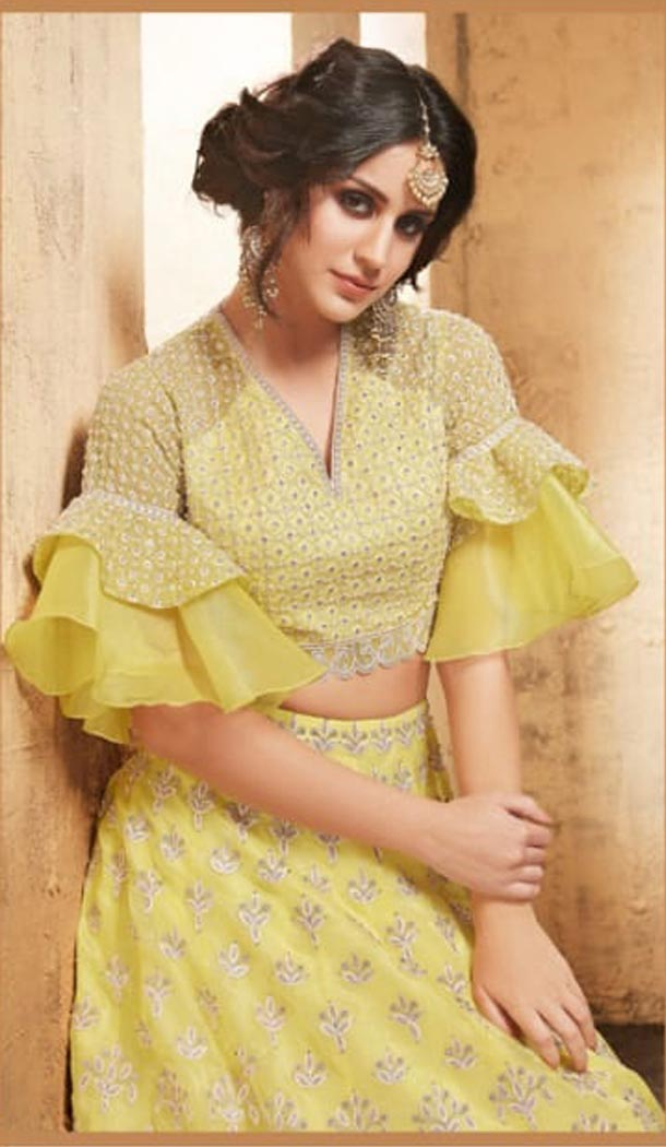 Yellow Color Net Heavy Embroidery Designer Lehenga Choli - 431152702