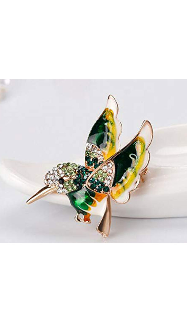 PIN Wild Bird Animal Alloy Drop Oil Wild Brooch - FHA5078