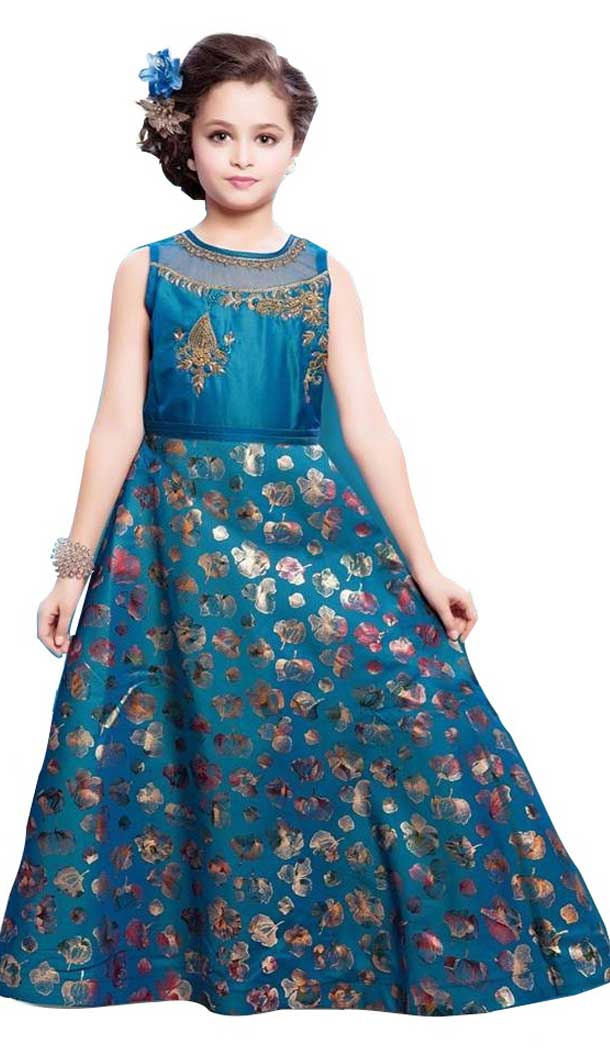 Morepich Color Sanatoon Designer Kids Girls Gown Dress - 4123568