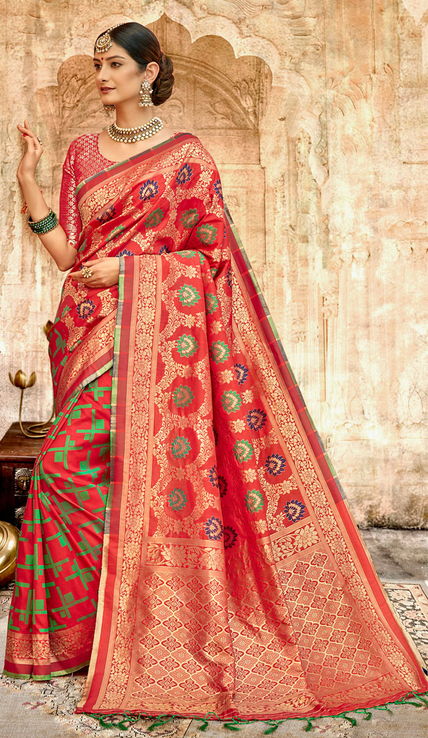Maroon Color Silk Base Traditional Plus Size Sarees - 494560760
