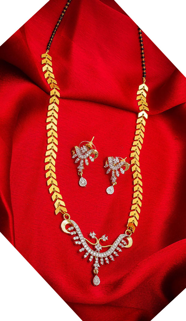 Exotic Golden Color Alloy Pendant Designer Imitation Mangalsutra Jewellery - 533365562