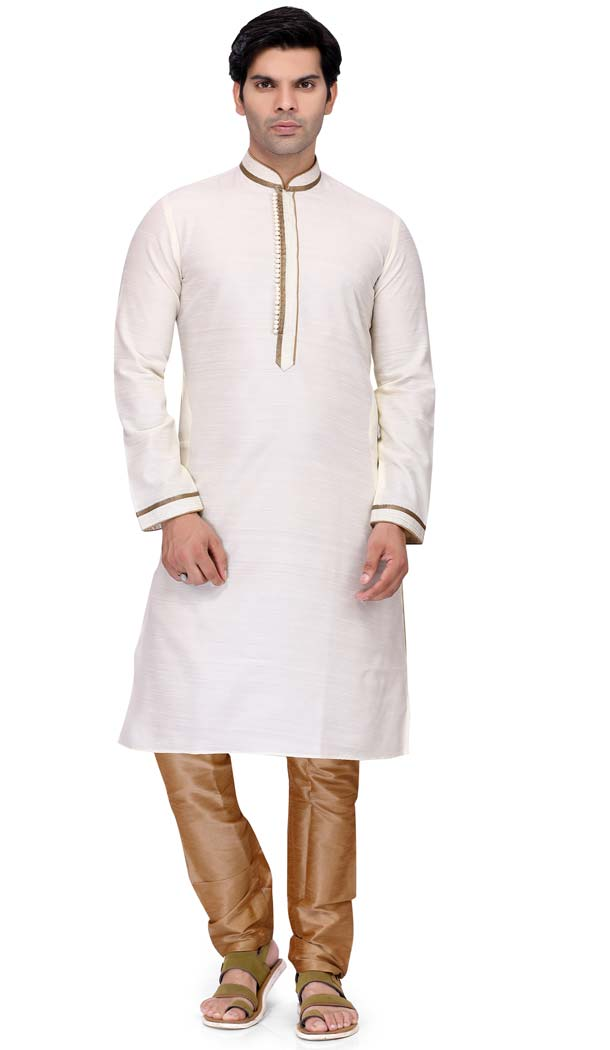 White Kurta Pajama Design for Man 2019 -508962456