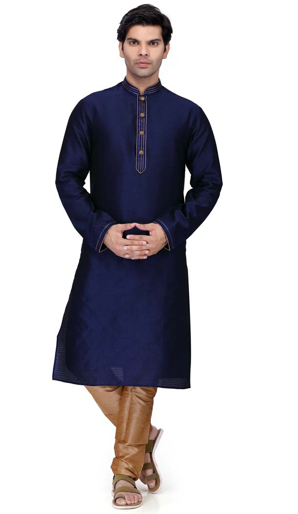 Kurta Pajama Design Navy Blue For Man 2019 Punjabi -508962457