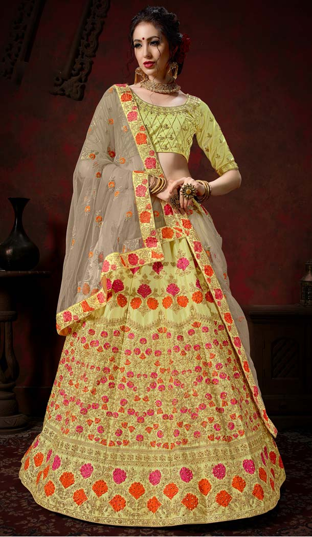 Designer Yellow Color Lehenga Choli Boutique -580772303