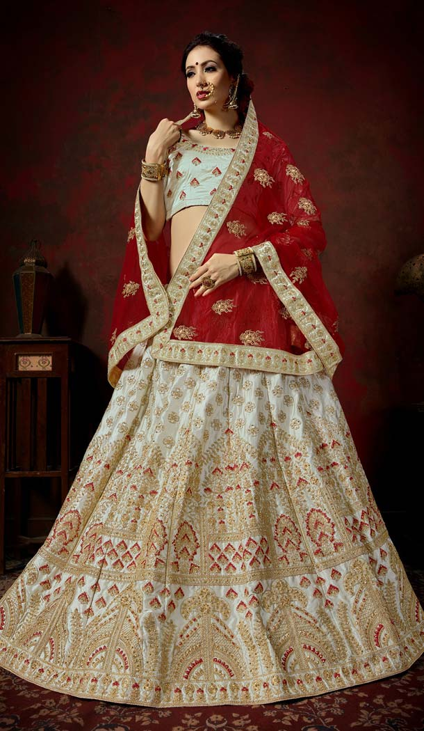 Best Designer Lehenga Choli Grey Online Shopping -580772304