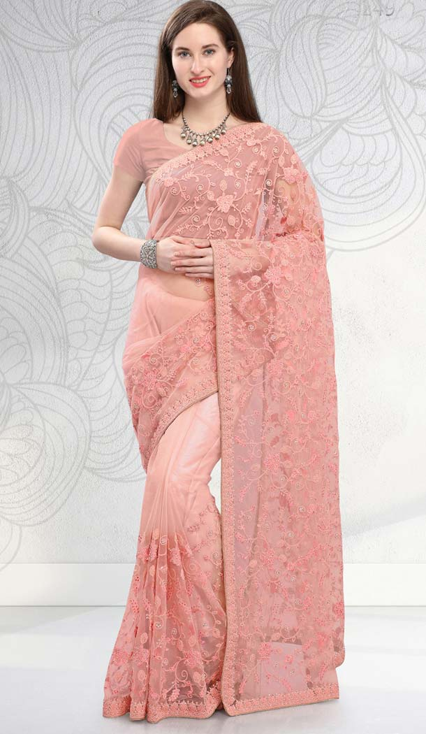 Indian Designer Net Sarees Online -581672370