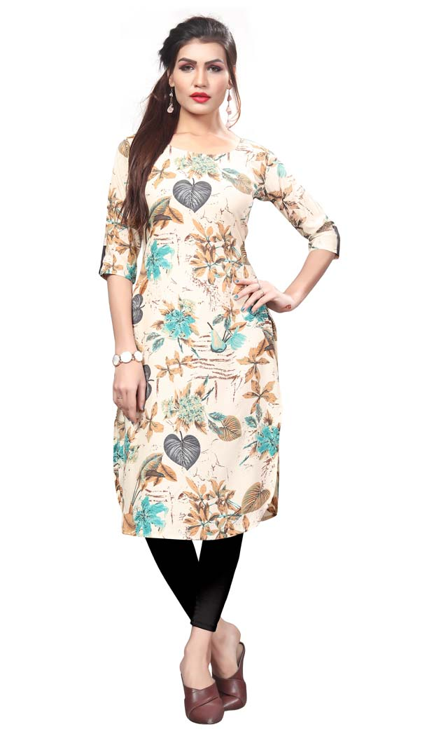 Multicolor Color Crape Casual Wear Readymade Kurti -4934226