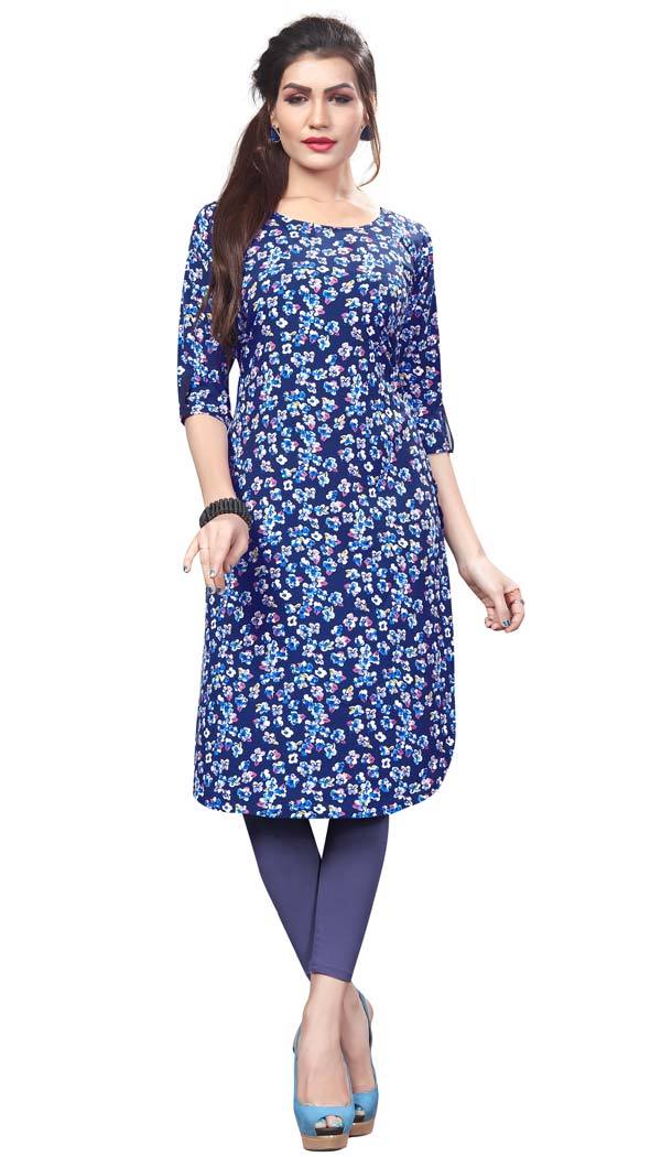 Majesty Multicolor Color Crape Casual Wear Readymade Kurti -4934230