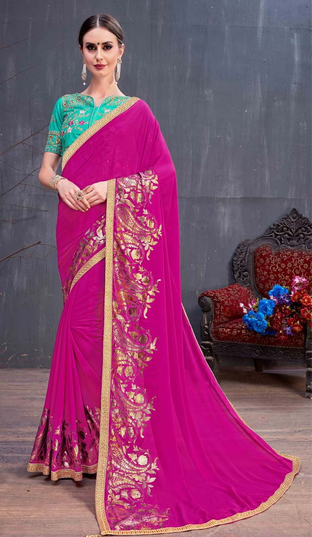 buy party wear half saree online shopping