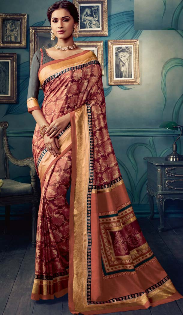 Stunning Multi Color Cotton Silk Casual Wear Printed Silk Saree -653881720