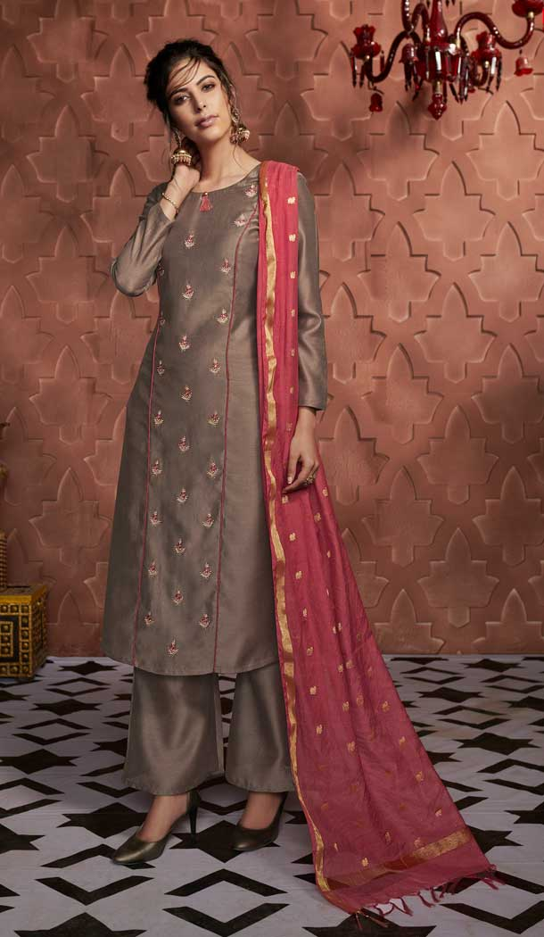 types of palazzo suits party wear