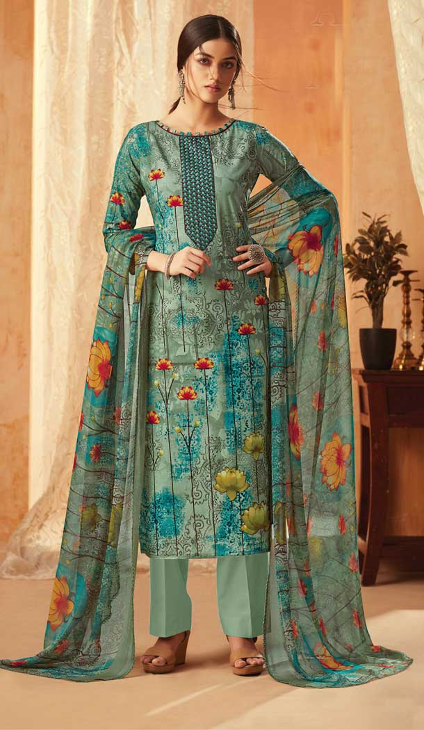 Multi Color Pure Cambric Cotton Casual Wear Salwar Kameez -707888005