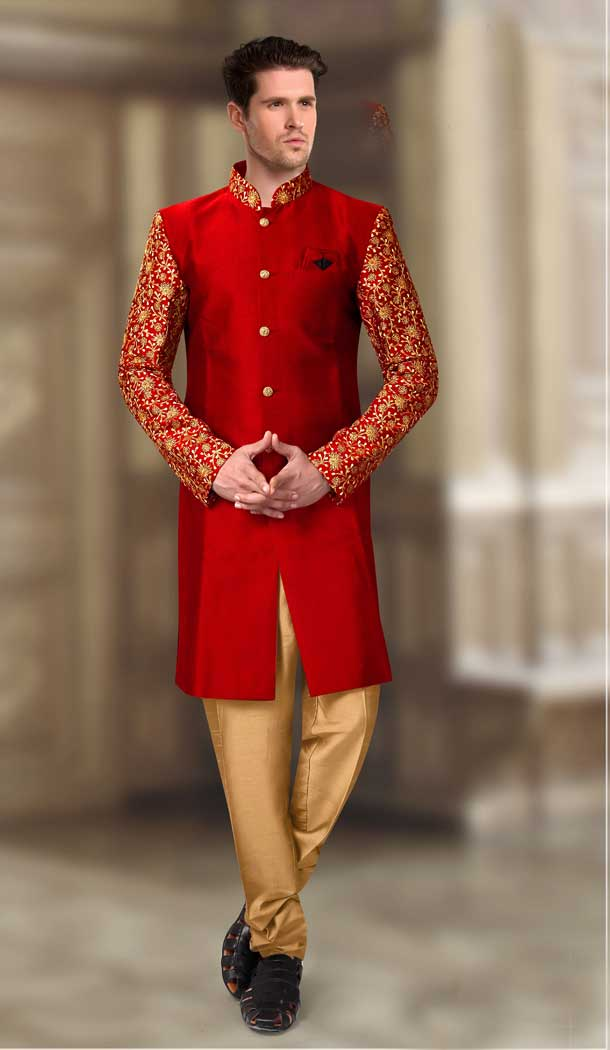 plus size sherwani suit image for man