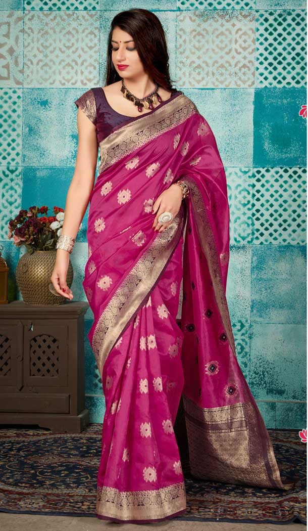 Splendorous Pink Color Banarasi Silk Designer Traditional Women Saree -728890238