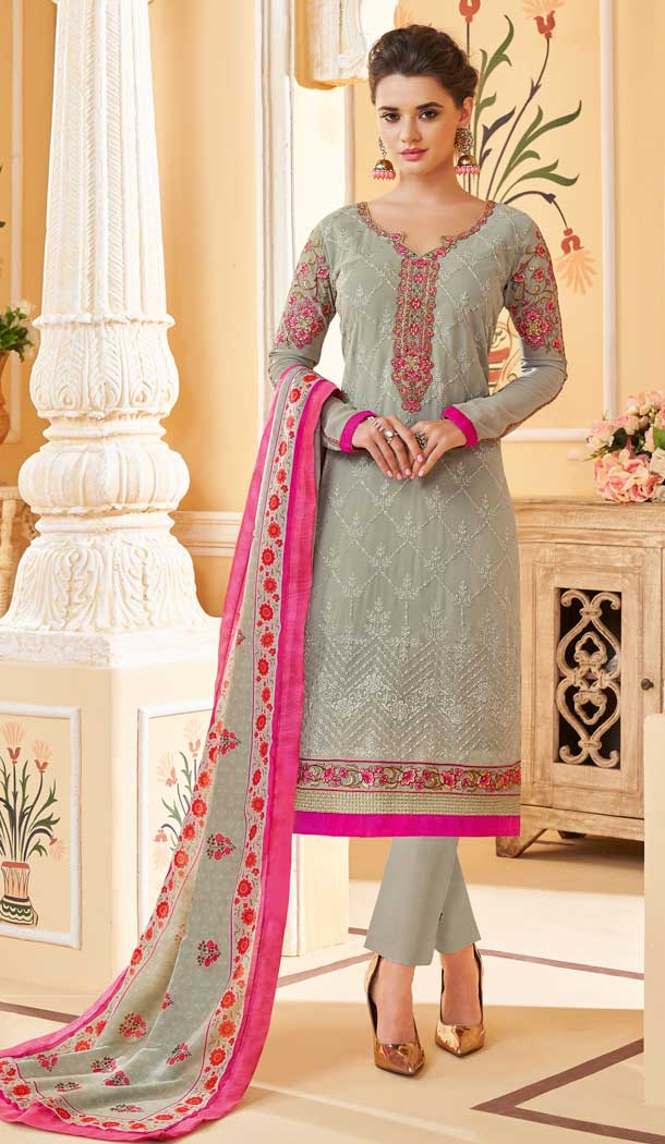 heavy faux georgette casual salwar suits online