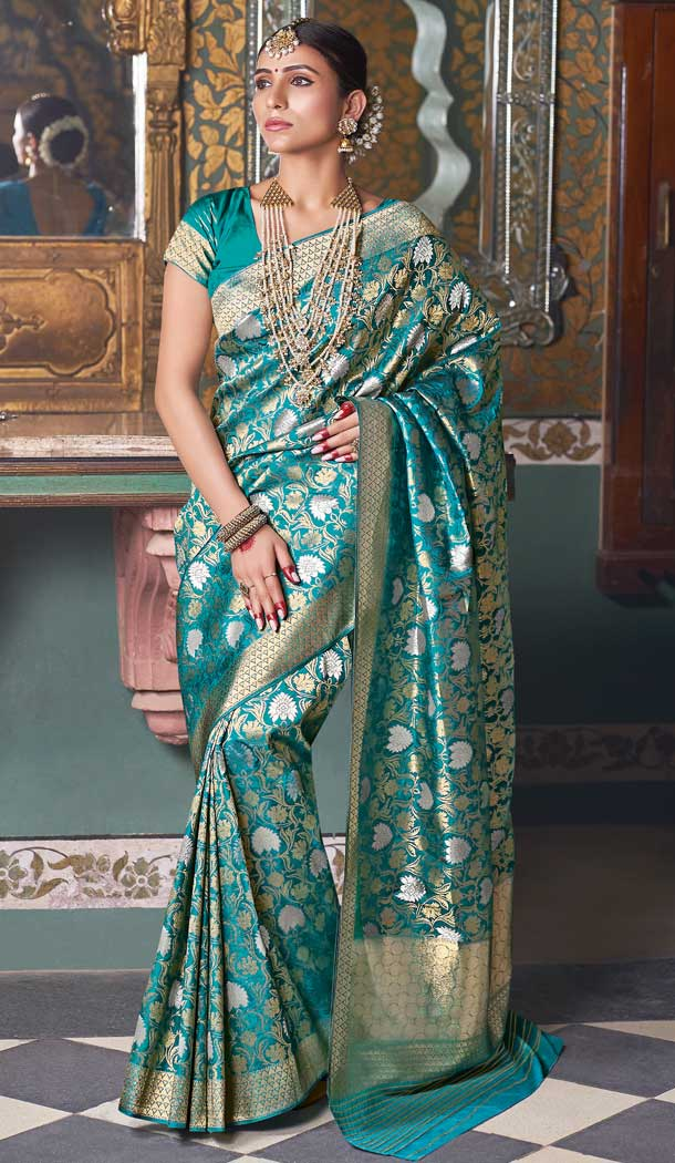 party wear handloom silk saree and suit
