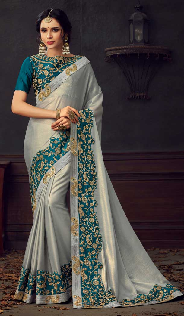 traditional poly silk saree ad -733690881