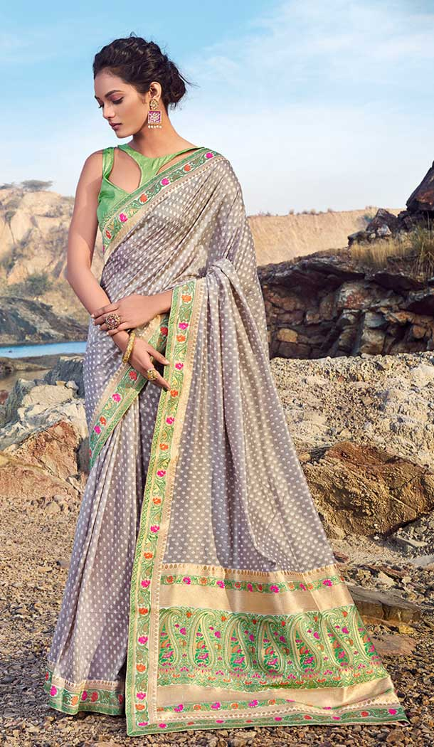 woman latest casual chanderi silk sarees 2017 -752192741