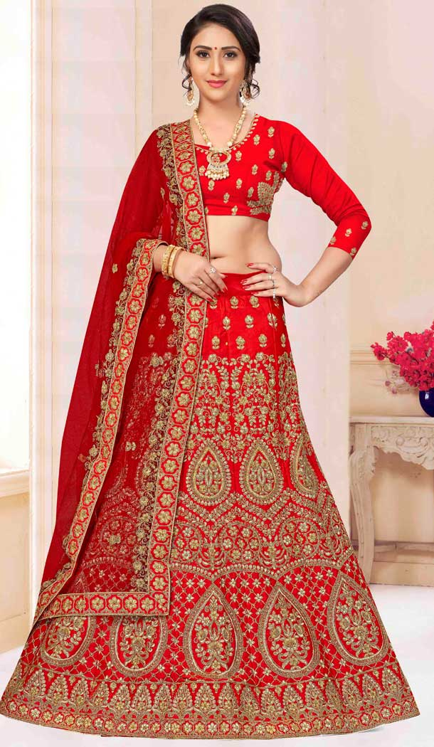 traditional plus size lehenga set online -767494399