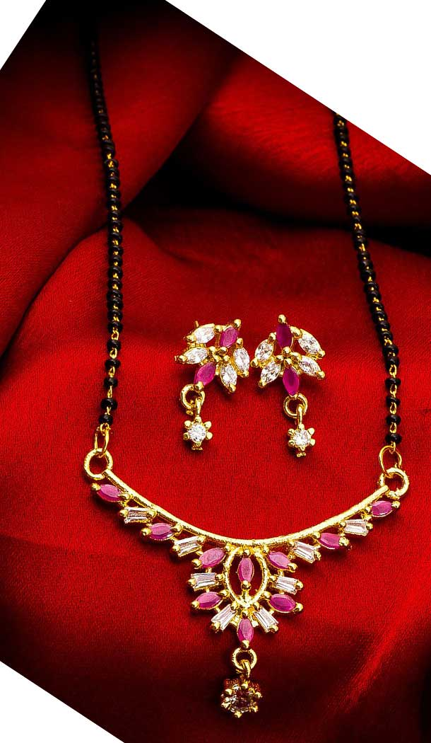 Magnificient Love Pendant Alloy Imitation Mangalsutra -706387879