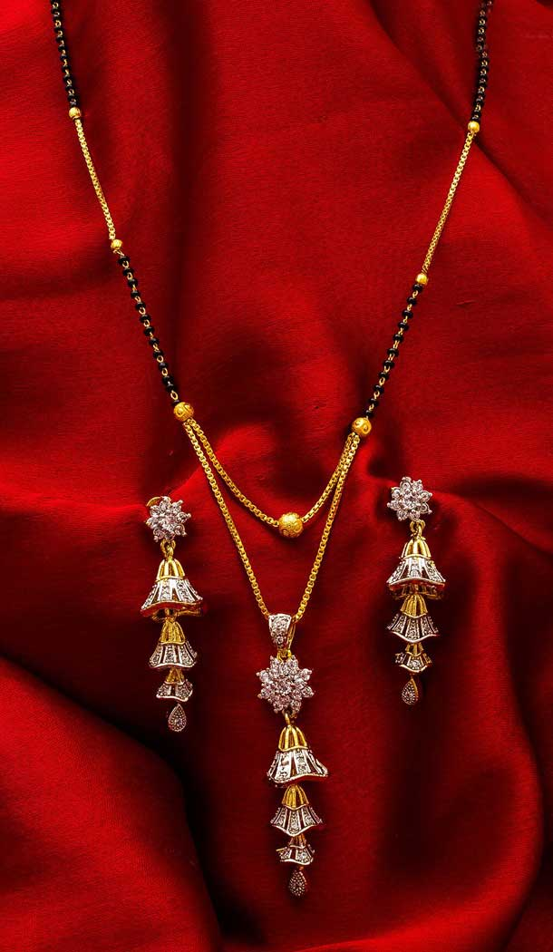 Ravishing Love Pendant Alloy Imitation Mangalsutra -706387890