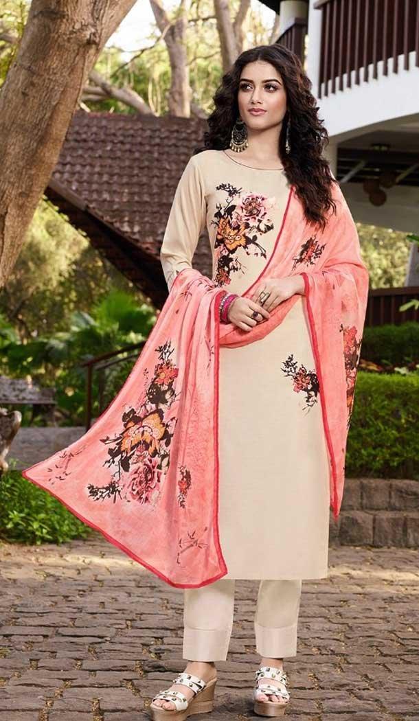 Off White Color Soft Silk Casual Wear Readymade Salwar Kameez -EV544971717
