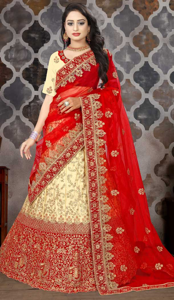buy sleeves design latest for red color lehenga blouse -777795548