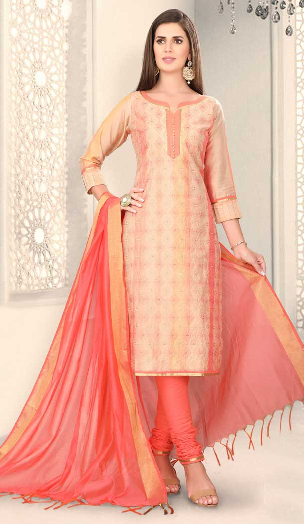 Aesthetic Multi Color Chanderi Silk Designer Party Wear Salwar Suit -780895864