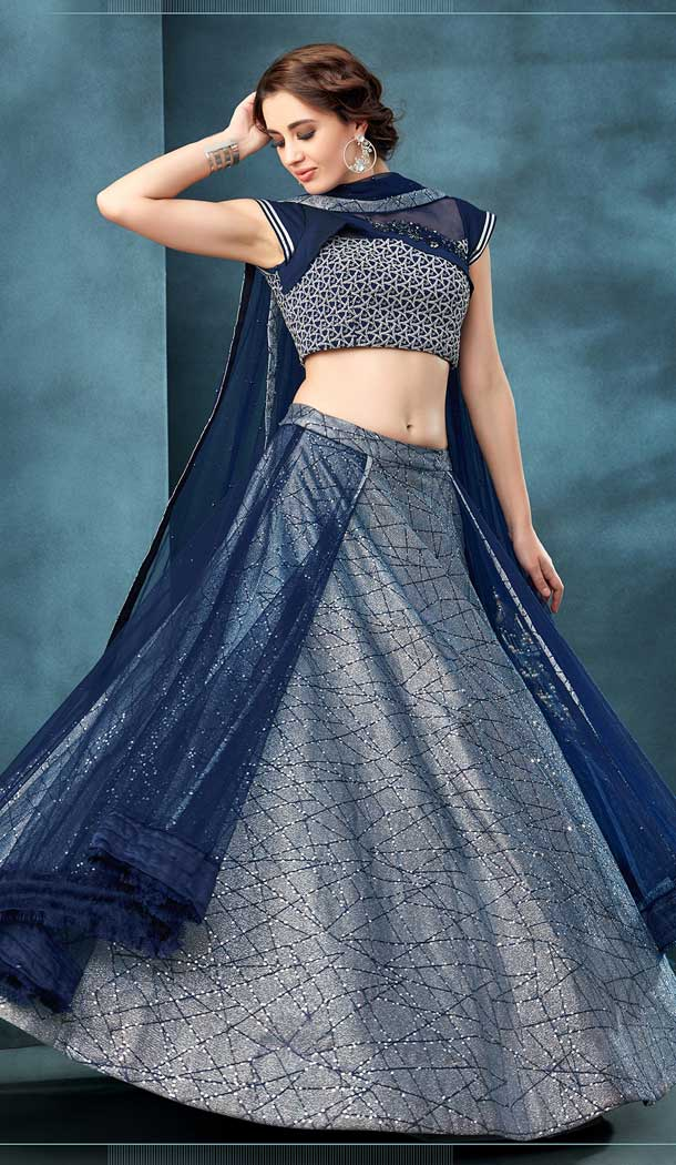 Silver Color Value Addition Heavy Designer Party Wear Bridal Lehenga Choli -784396175