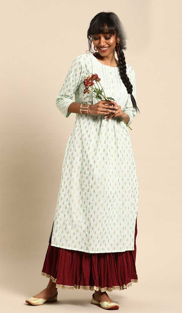 Alluring Multi Color Cambric Cotton Casual Party Wear Readymade Kurtis -802497976