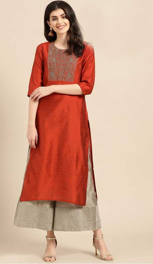 cambric cotton designs of kurtis with jeans -802497983