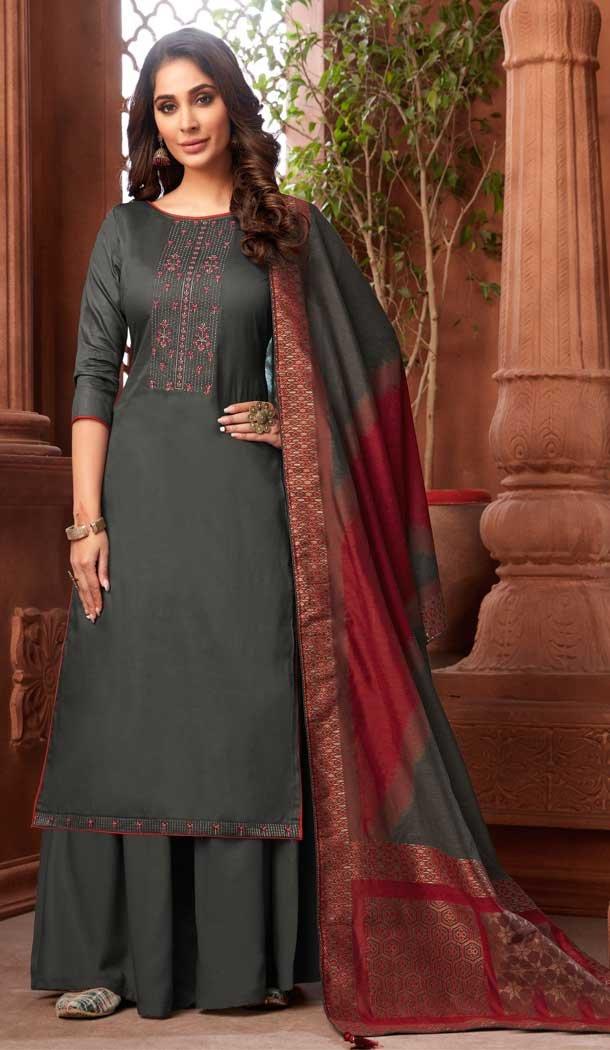 pure zam cotton palazzo suit online -802798035