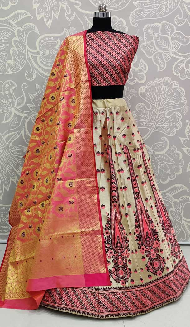 Pink Color Art Silk Designer Traditional Wedding Wear Lehenga Choli -pf77106733