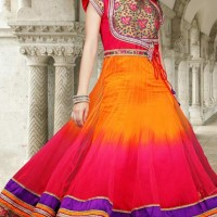 Lush Deep Pink & Gold Color Salwar Kameez