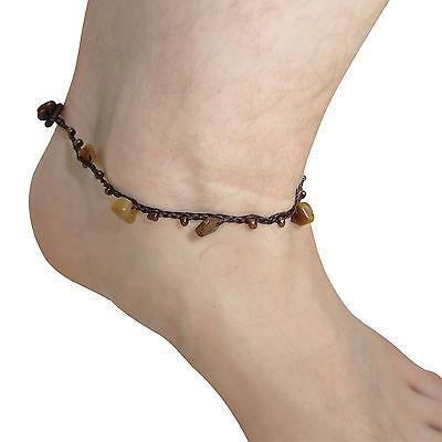 Heenastyle: Gold, Silver Beaded Mens Ankle Bracelets